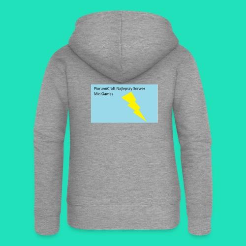 Koszulka Dla Dzieci PiorunoCraft - Rozpinana bluza damska z kapturem Premium