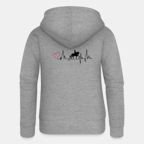 Heartbeat Dressurreiterin klassisch Herz - Frauen Premium Kapuzenjacke