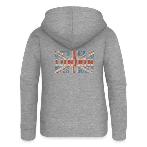 LET'S ROCK IN LONDON - Felpa con zip premium da donna