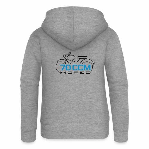 Moped sparrow 70 cc emblem - Women's Premium Hooded Jacket