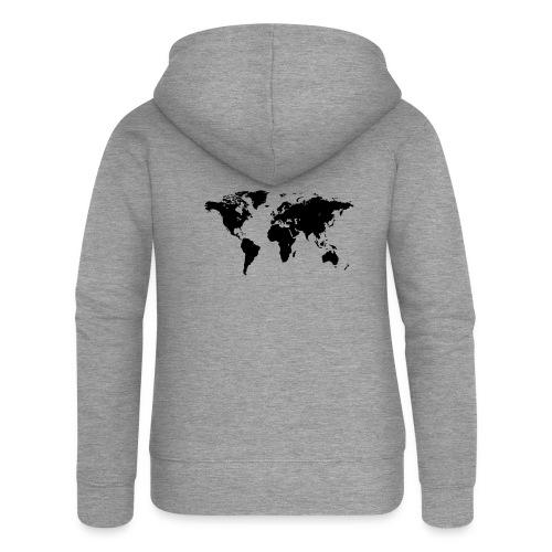 World Map - Frauen Premium Kapuzenjacke