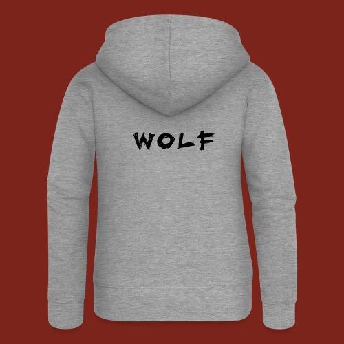 Wolf Font png - Vrouwenjack met capuchon Premium