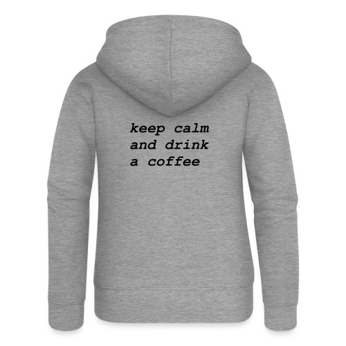 Kaffee - Frauen Premium Kapuzenjacke