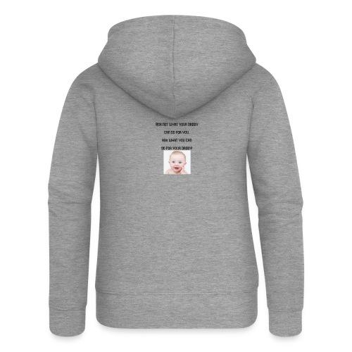 daddy tshirt sort tekst - Women's Premium Hooded Jacket