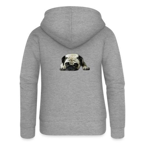 Cute pugs - Chaqueta con capucha premium mujer