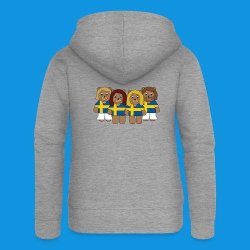 Abba Sweden Bears.png - Women's Premium Hooded Jacket