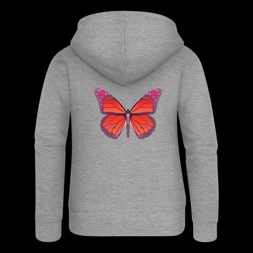 D28 monarch butterfly red lajarindream 4500px - Chaqueta con capucha premium mujer