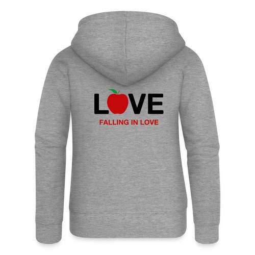 Falling in Love - Black - Women's Premium Hooded Jacket