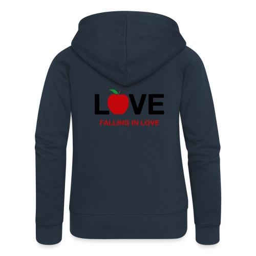 Falling in Love - Black - Women's Premium Hooded Jacket