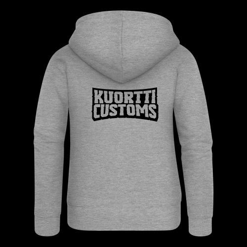 kuortti_customs_logo_main - Naisten Girlie svetaritakki premium