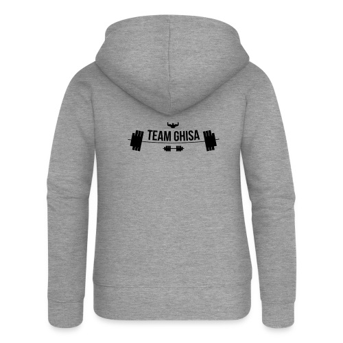 TEAMGHISALOGO - Felpa con zip premium da donna