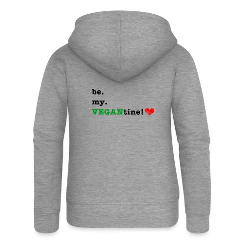 VEGANtine Green - Women's Premium Hooded Jacket