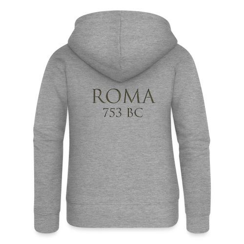 Nadruk Roma (Rzym) | Print Roma (Rome) - Rozpinana bluza damska z kapturem Premium