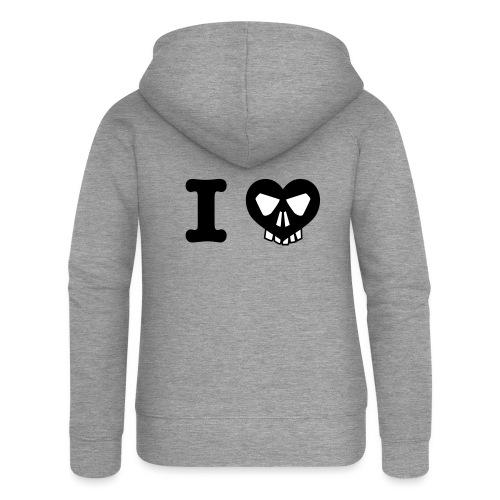 I Love... - Frauen Premium Kapuzenjacke