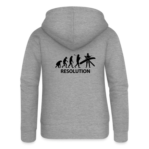 Resolution Evolution Army - Women's Premium Hooded Jacket