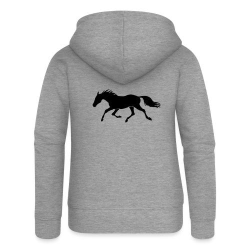 Cavallo - Felpa con zip premium da donna