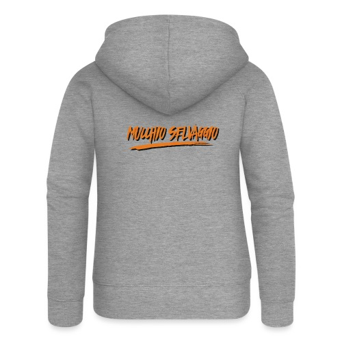 Mucchio Selvaggio 2016 Dirty Orange - Felpa con zip premium da donna