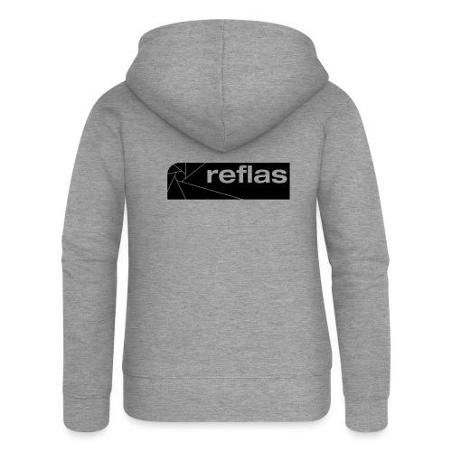 Reflas Clothing Black/Gray - Felpa con zip premium da donna