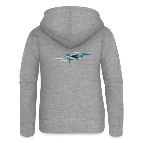 Baleine à bosse plongeante - Veste à capuche Premium Femme