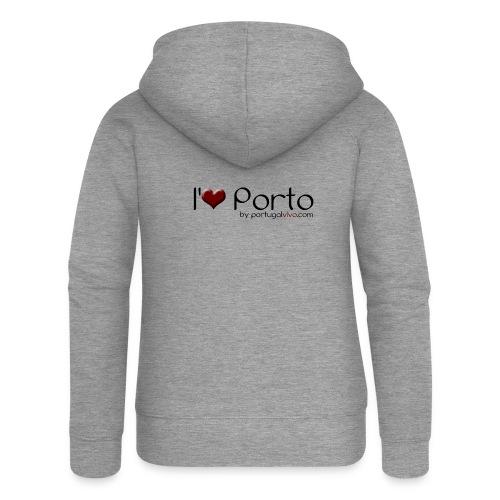 I Love Porto - Veste à capuche Premium Femme