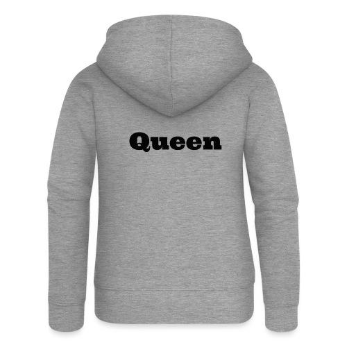Snapback queen grijs/zwart - Vrouwenjack met capuchon Premium