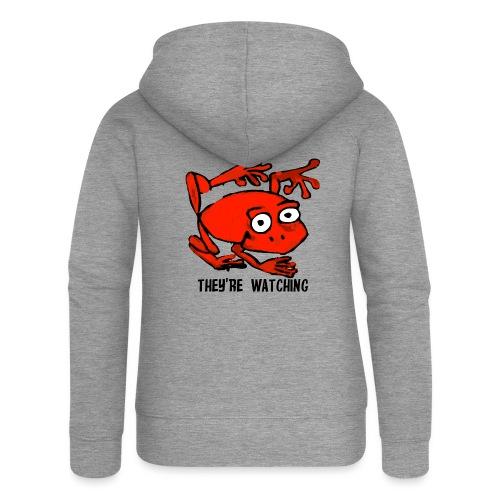 red frog - Felpa con zip premium da donna