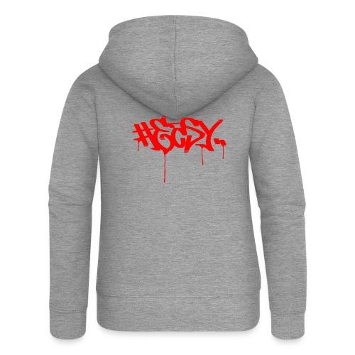 #EASY Graffiti Logo T-Shirt - Felpa con zip premium da donna