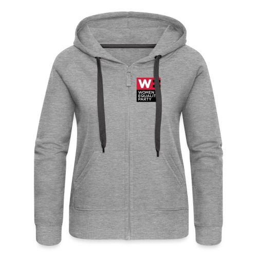 WE_LOGO_RED_CMYK - Women's Premium Hooded Jacket