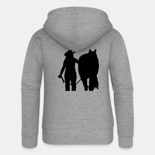 Westernreiterin mit Pferd individualisierbar - Frauen Premium Kapuzenjacke