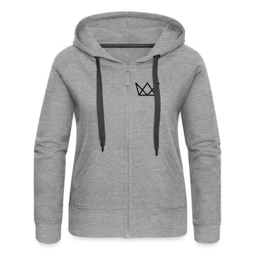 TKG Krone schwarz CMYK - Frauen Premium Kapuzenjacke