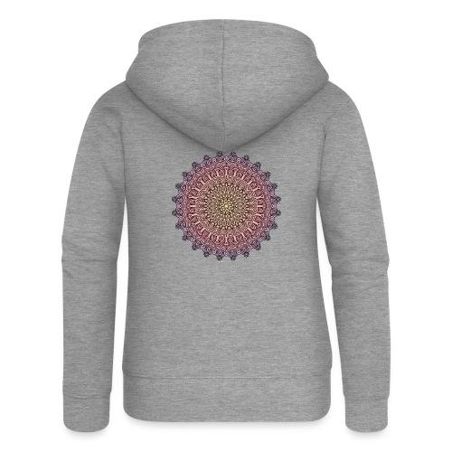 Mandala Sonnenuntergang - Frauen Premium Kapuzenjacke