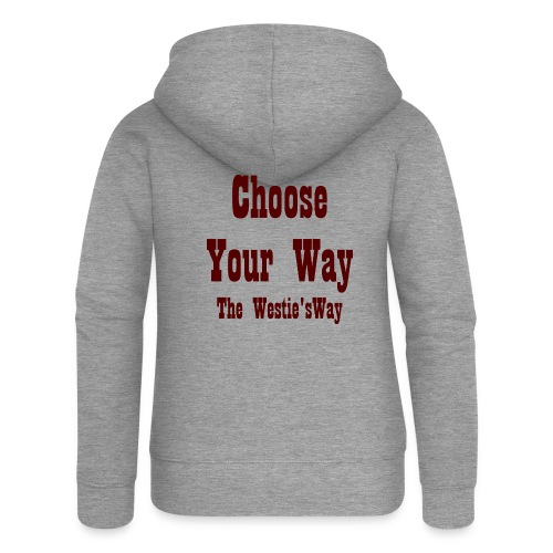 Choose Your Way Brown - Rozpinana bluza damska z kapturem Premium