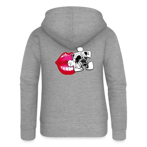 KISS - BULLDOG - Felpa con zip premium da donna