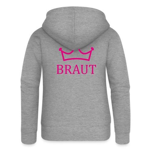 Braut Krone pink Junggesellinnenabschied - Frauen Premium Kapuzenjacke