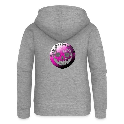 Rigormortiz Purple Design - Women's Premium Hooded Jacket