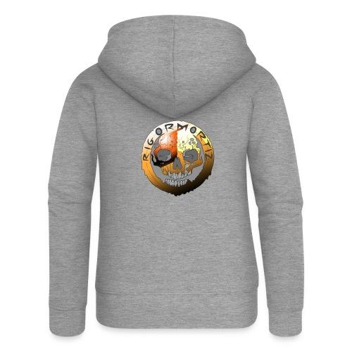 Rigormortiz Metallic Orange Design - Women's Premium Hooded Jacket