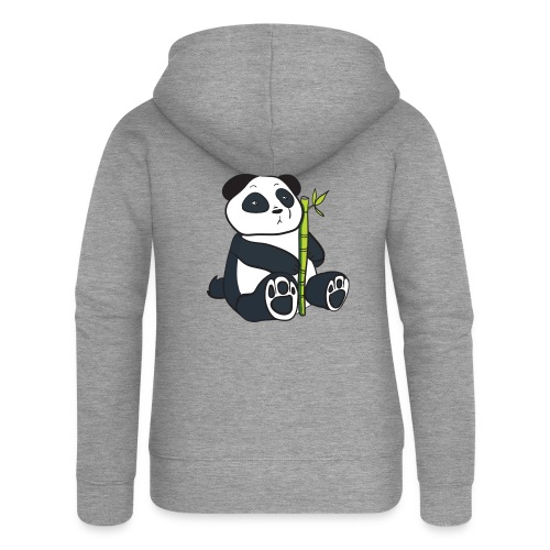 Oso Panda con Bamboo - Chaqueta con capucha premium mujer