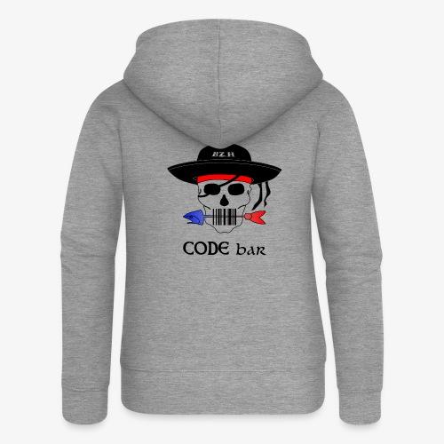 Code Bar couleur - Veste à capuche Premium Femme