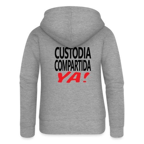 Custodia Compartida YA Negro - Chaqueta con capucha premium mujer