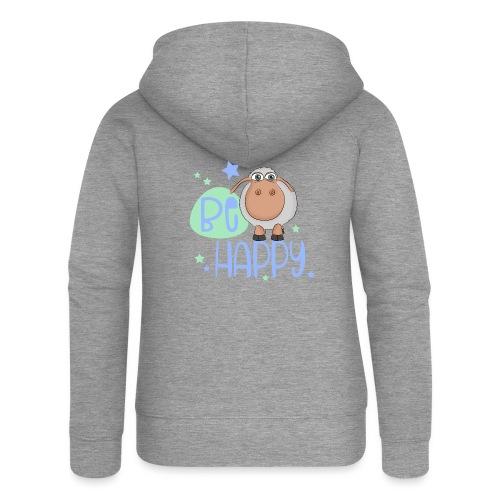 Be happy Schaf - Glückliches Schaf - Glücksschaf - Frauen Premium Kapuzenjacke