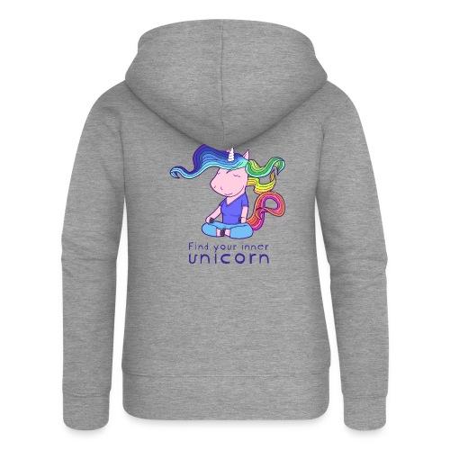 Yoga unicorn in the Lotus - Women's Premium Hooded Jacket