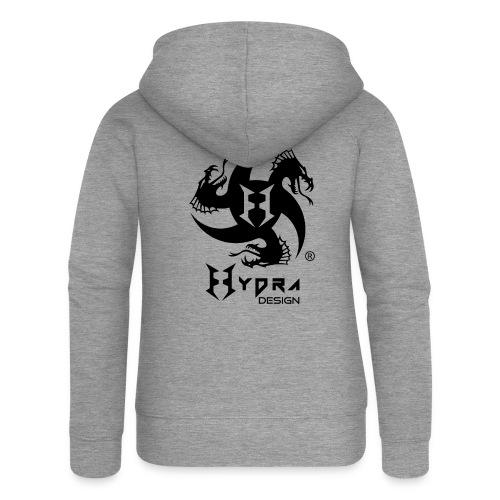 Hydra DESIGN - logo blk - Felpa con zip premium da donna