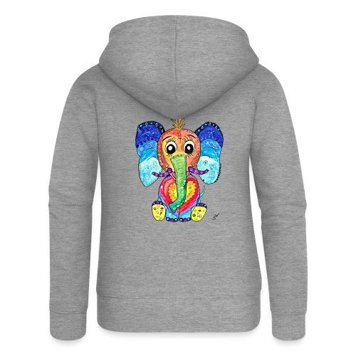 Happy Elephant - Frauen Premium Kapuzenjacke