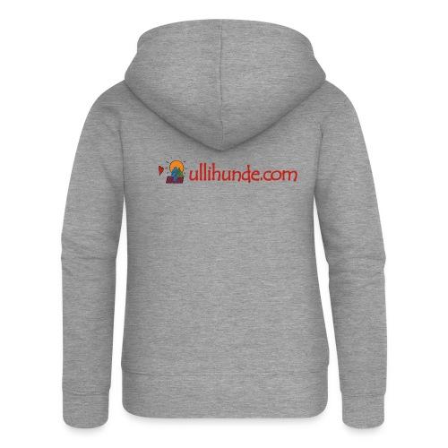 Ullihunde Schriftzug mit Logo - Frauen Premium Kapuzenjacke