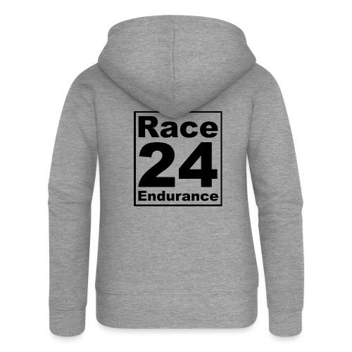 Race24 logo in black - Women's Premium Hooded Jacket