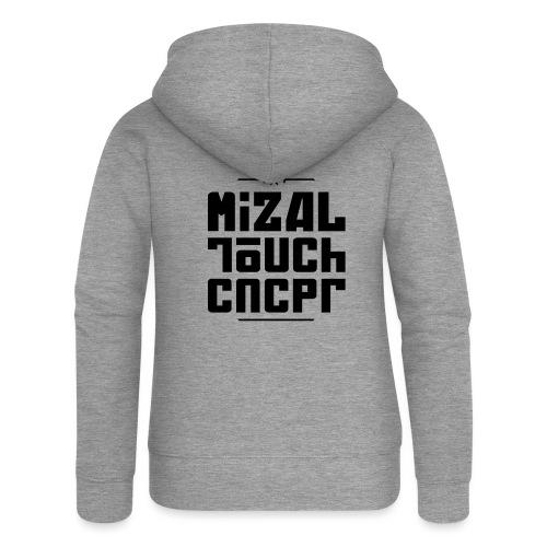 Logo MiZAL Touch Concept - Rozpinana bluza damska z kapturem Premium
