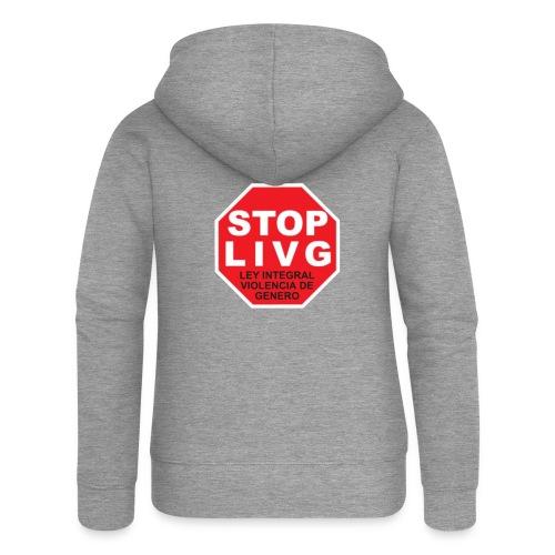 Stop LIVG Ley integral de violencia de Género - Chaqueta con capucha premium mujer