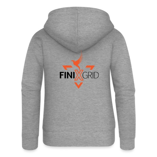 FinixGrid Orange - Women's Premium Hooded Jacket