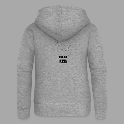 BLK FTR N°3 - Felpa con zip premium da donna