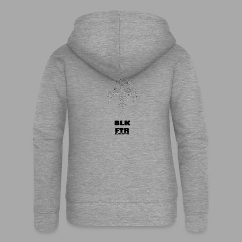 BLK FTR N°4 - Felpa con zip premium da donna